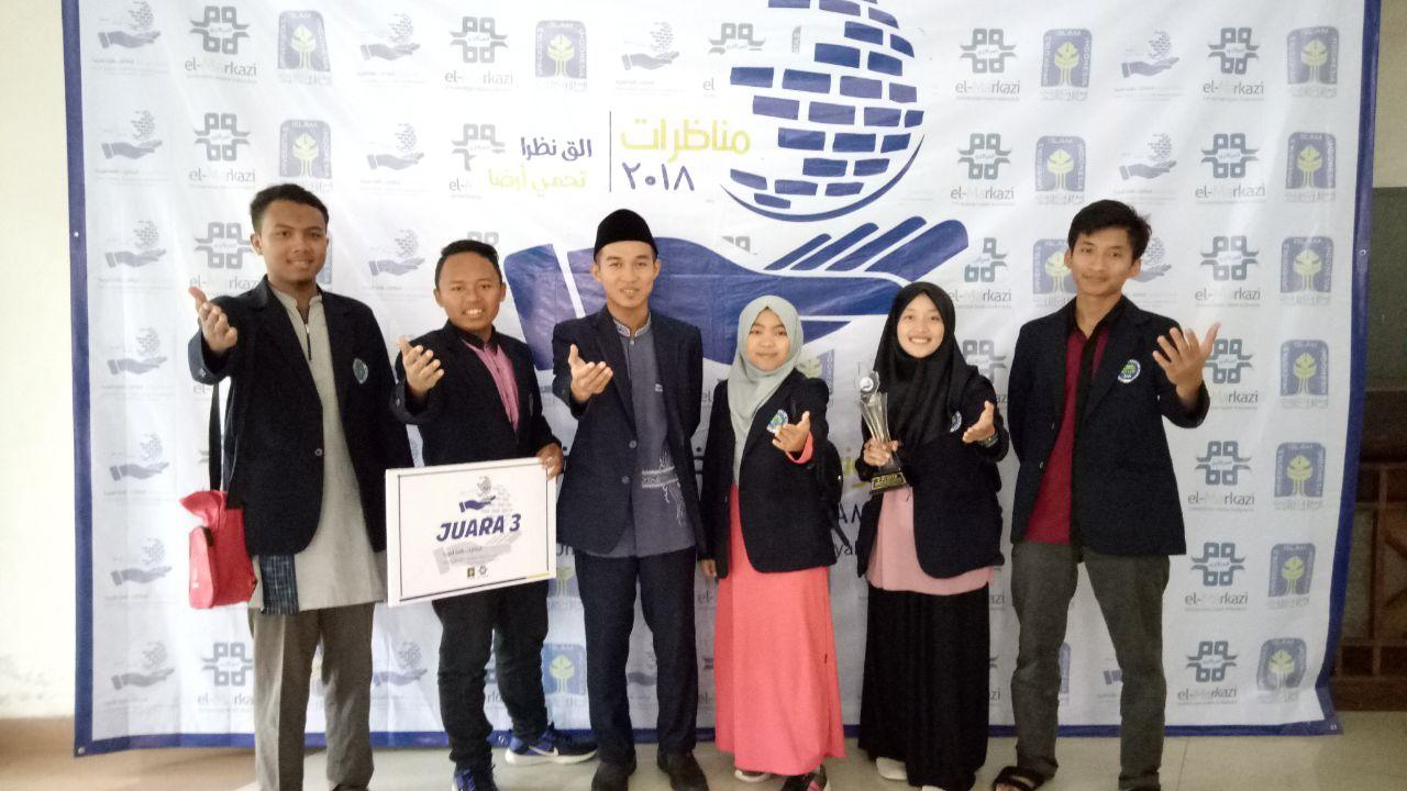 Mahasiswa Sastra Arab UM JUARA di UNISI Arabic Debating Championship (UADC) 2018 UII Yogyakarta