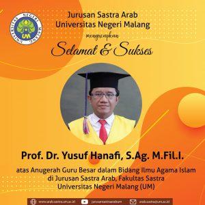 Anugerah Guru Besar Prof. Dr. Yusuf Hanafi, S.Ag. M.Fil.I.
